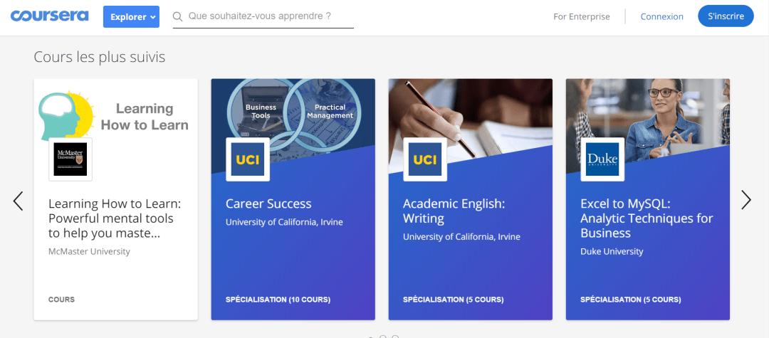 Présentation Coursera