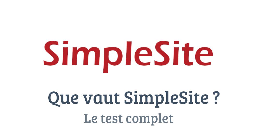 SimpleSite : Test complet et avis