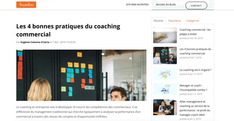 Exemple blog