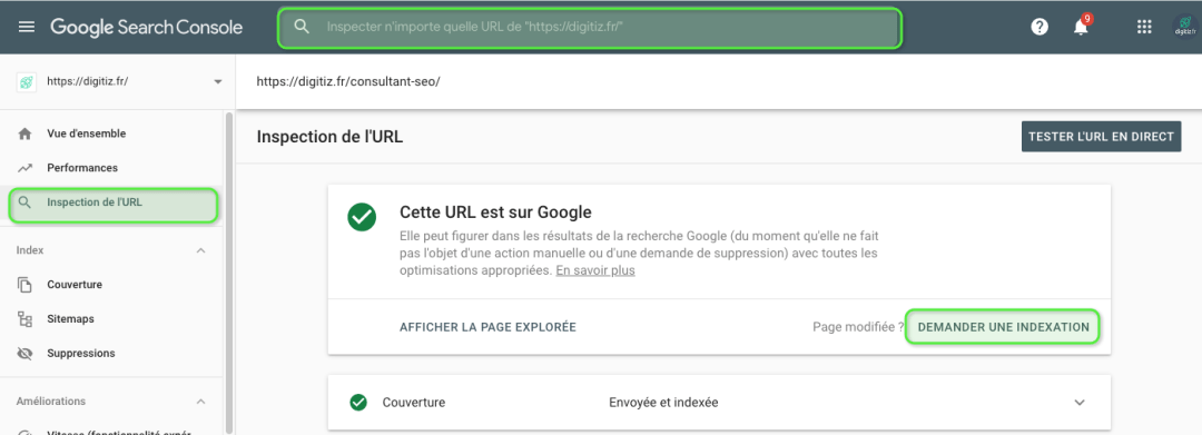 Indexation Google Search Console