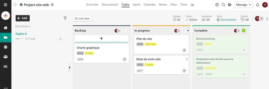 proofhub - les meilleures alternatives à MS Project