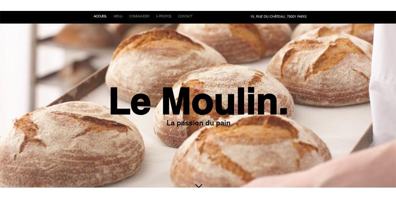 Exemple de site de boulangerie