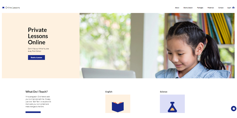 Exemple de site de cours en ligne