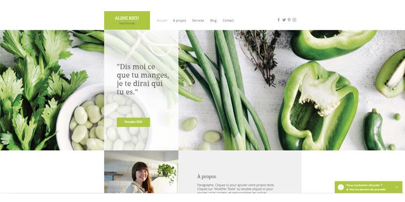 Exemple de site de diététicien