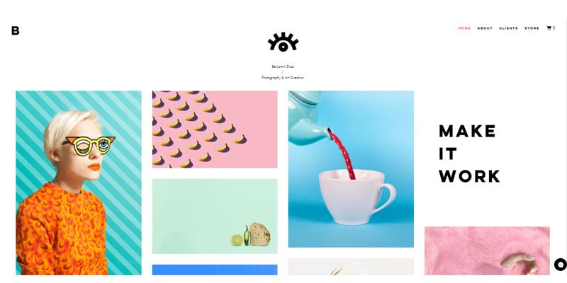 Exemple de site de directeur artistique