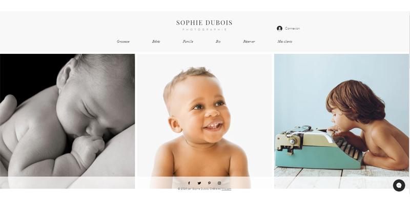 Exemple de site de photographe