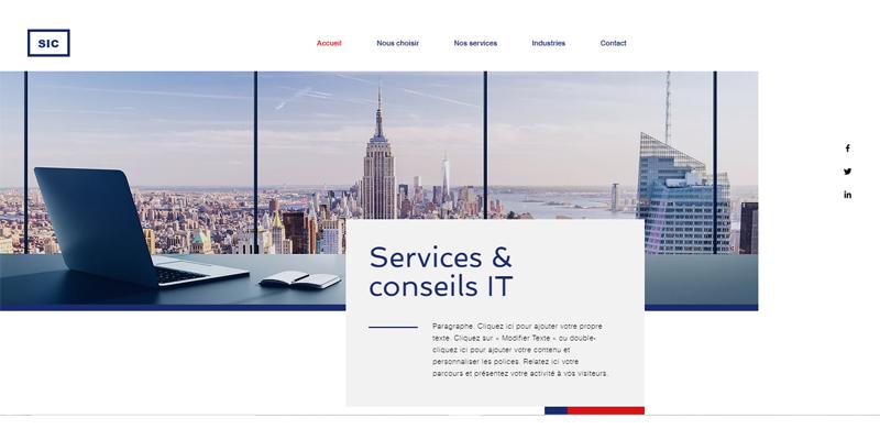 Exemple de site de services informatiques