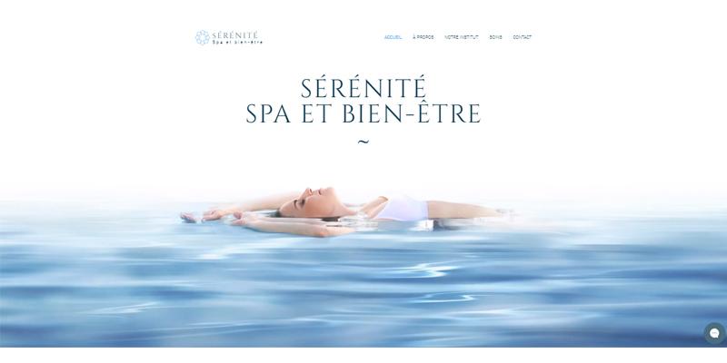 Exemple de site de spa