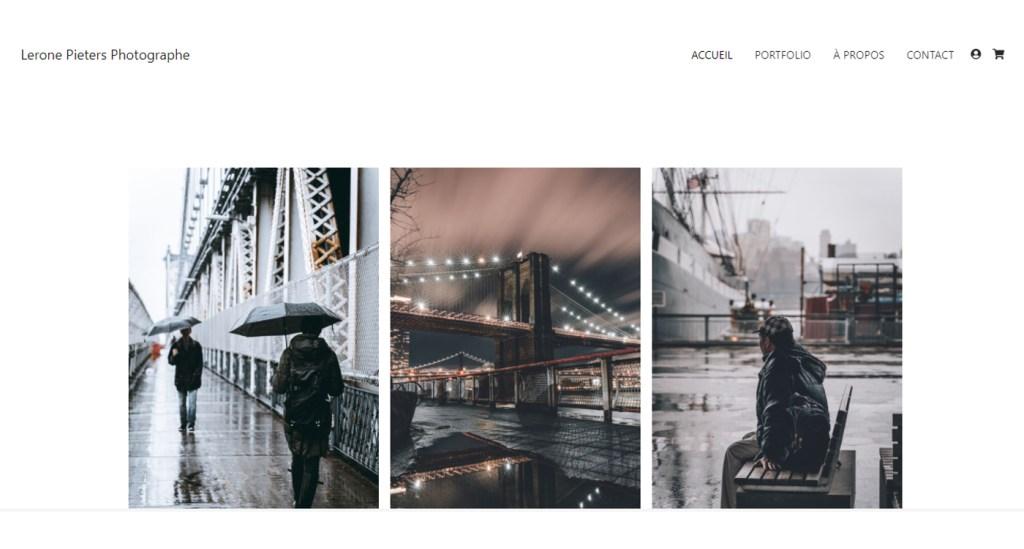 Lerone Pieters Photographe exemple site Wifeo