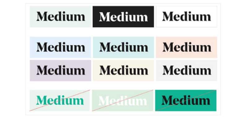 Charte graphique Medium
