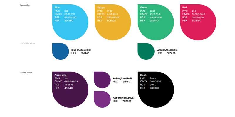 Slack color palette