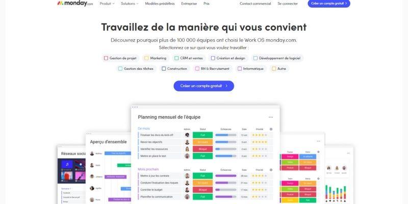 Monday.com interface