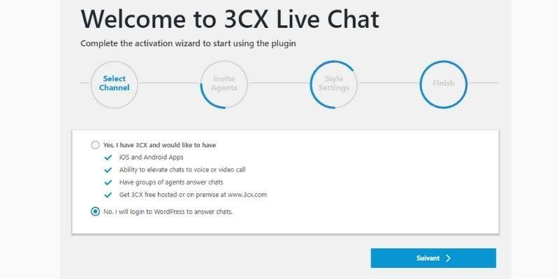 Install 3CX Live Chat with WordPress