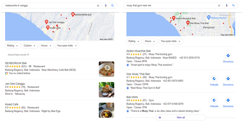Google My Business Local 3 Pack