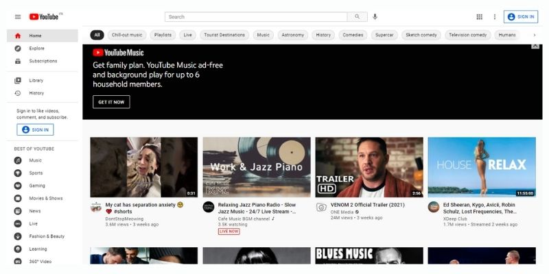 YouTube Video Hosting