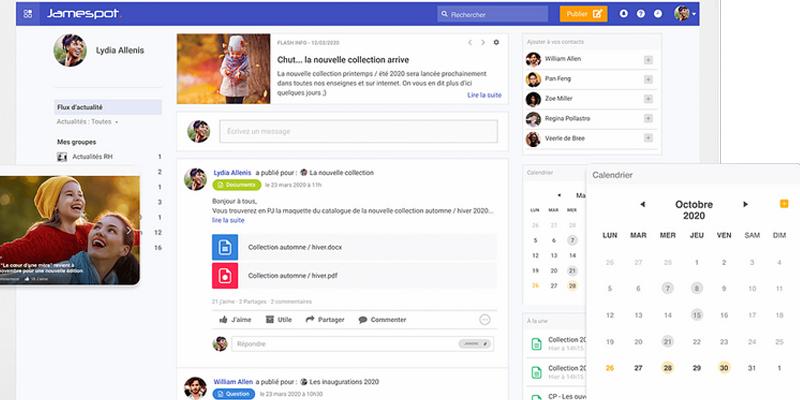 Jamespot - réseaux sociaux d'entreprise (RSE)
