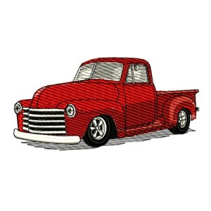 1951 Chevrolet Pickup Truck Embroidery Design