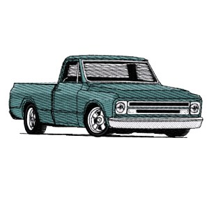 1967 Chevrolet Pickup Truck Embroidery Design