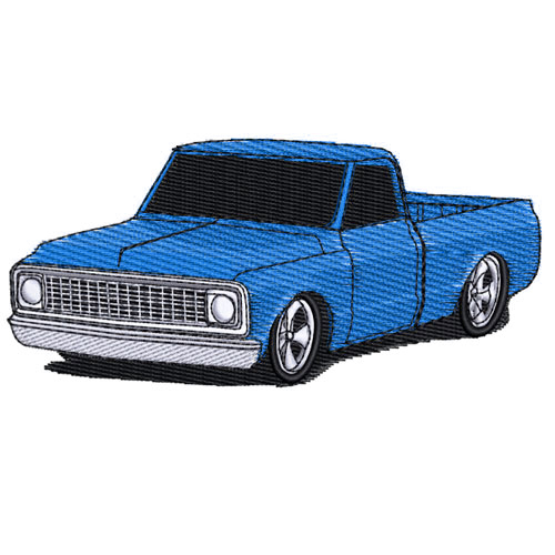 1972 Chevrolet Pickup Truck Embroidery Design
