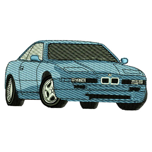 1995 BMW 850 Embroidery Design