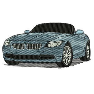 2010 BMW Z4 Roadster Embroidery Design