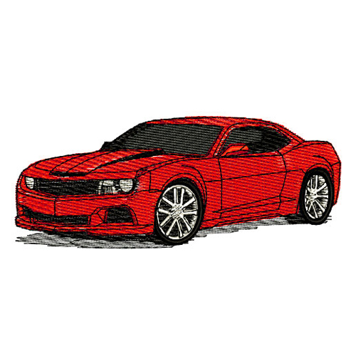 2010 Chevrolet Camaro RS SS Embroidery Design