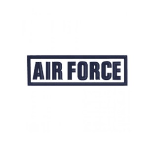 Air Force Text Rocker Embroidery Design