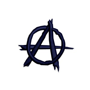 Anarchy Symbol Embroidery Design 1