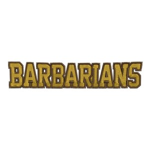 Barbarians Athletics Sports Team Embroidery Design