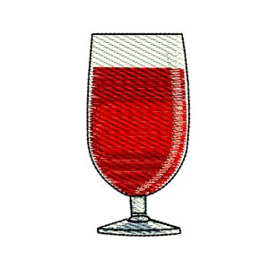 Blended Cocktail Glass Embroidery Design