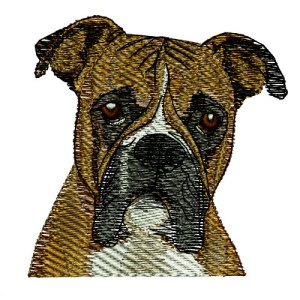 Boxer Dog Puppy Embroidery Design