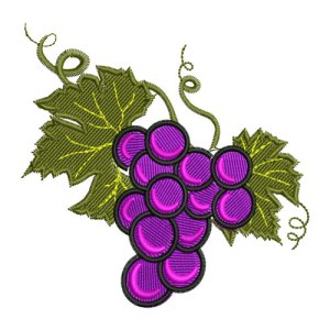 Bunch of Grapes Embroidery Design
