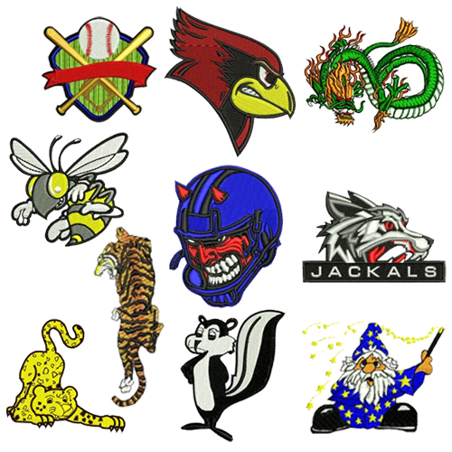 Cartoon Mascot Embroidery Design Discount Value Pack