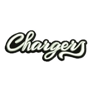 Chargers Athletics Sports Team Embroidery Design