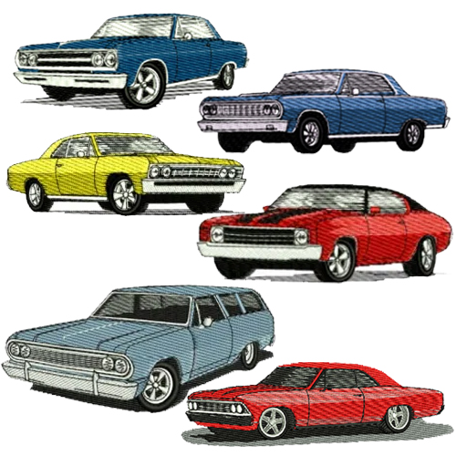 Chevy Chevelle Malibu Embroidery Design Discount Value Pack