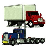 Commercial Truck Embroidery Designs