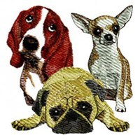 Dog & Puppy Embroidery Designs