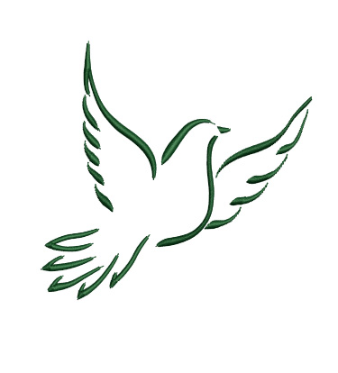 Flying Dove Embroidery Design