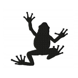 Frog Silhouette Embroidery Design