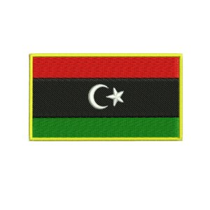 Lybian Lybia Flag Embroidery Design