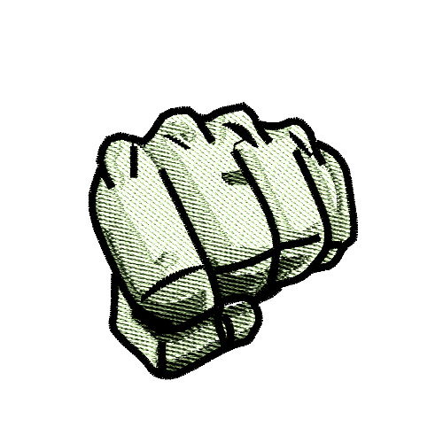 Martial Arts Punch Fist Embroidery Design