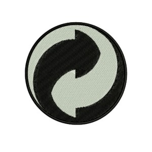 Modern Yinyang Recycle Recycling Symbol Embroidery Design