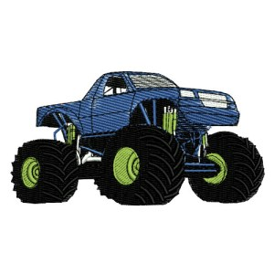 Monster Truck Racing Embroidery Design