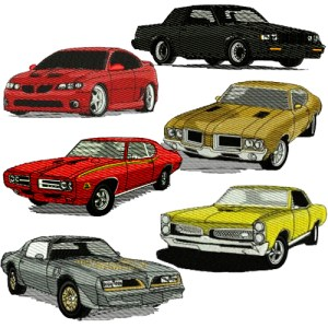 Other GM Cars Embroidery Design Discount Value Pack