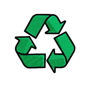 Recycle Recycling Symbol Embroidery Design