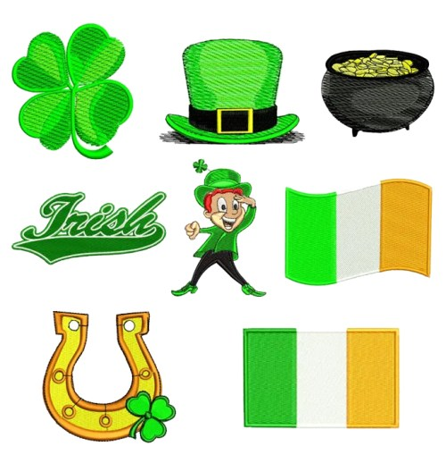 St patricks Day Irish Embroidery Design Discount Value Pack