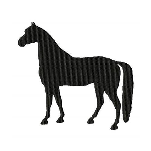 Standing Horse Silhouette Embroidery Design