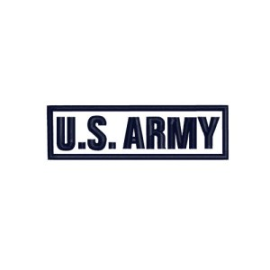 US Army Text Rocker Embroidery Design