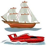 Boat Embroidery Designs