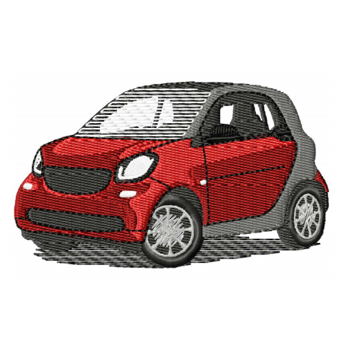Smart Fortwo Fourfour SmartCar Embroidery Design